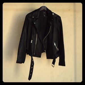 Black Pleather biker jacket, Forever 21
